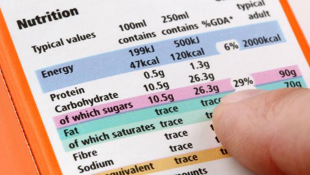 Información en etiquetas para alimentos